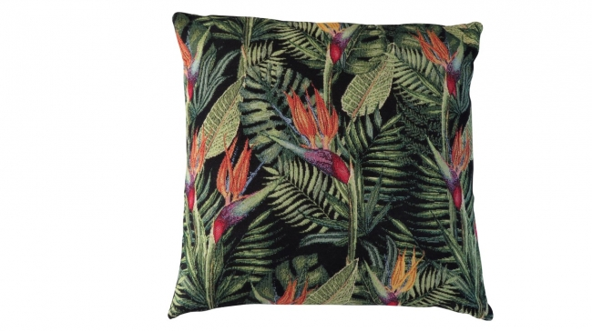 Kleur 1012 palmblad zwart (gobelin)