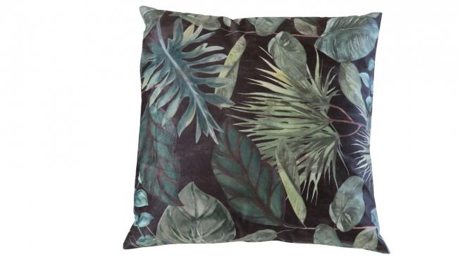 Kleur 2081 velvet groen zwart palmblad