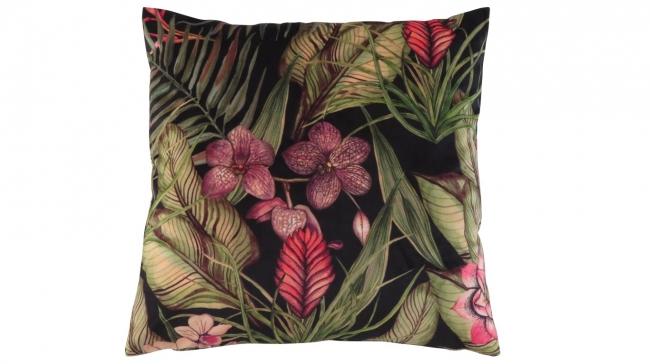 Kleur 2082 velvet bloem roze palm groen