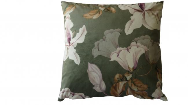 Kleur 2094 velvet mintgroen bloem