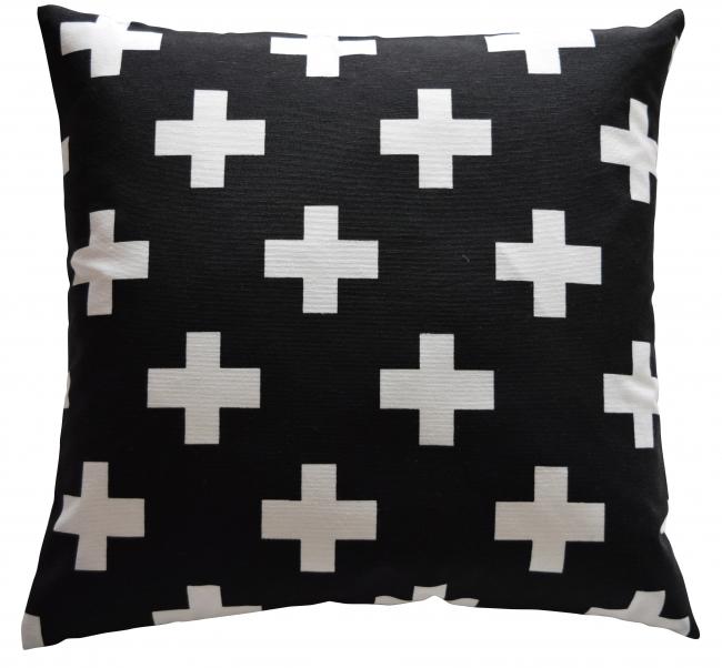 Kruis zwart/wit pg midden