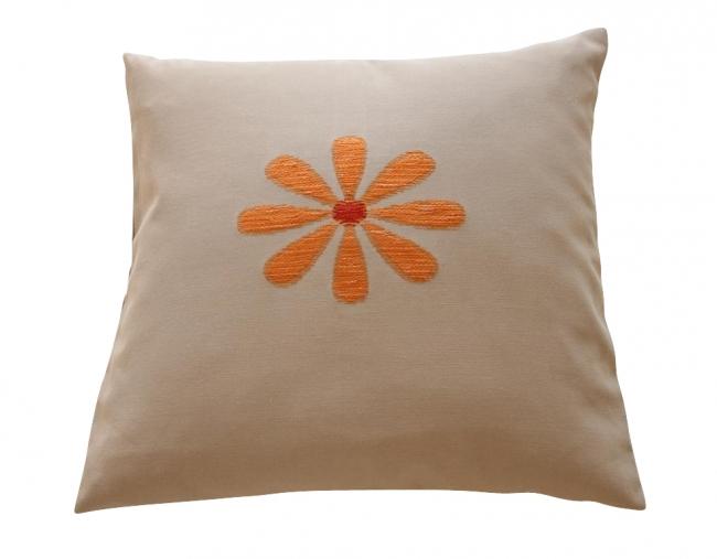 Bloem taupe/oranje prijsgroep midden