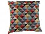 Nieuw in collectie Kleur 1001 driehoekjes rood groen geel (gobelin)