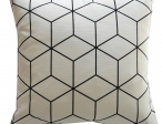 Sierkussens Zwart/wit kubus pg midden