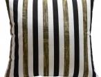 Sierkussens Streep zwart/wit/goud pg midden