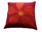 Sierkussens Kleur bloem rood/terra prijsgroep midden
