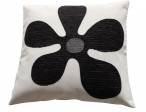 Sierkussens Kleur bloem zwart/wit prijsgroep midden